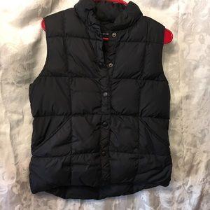 Land's End black warm vest-Ladies Small 6-8